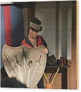 Maryland Renaissance Festival - Johnny Fox Sword Swallower - 121275 Wood Print by DC Photographer