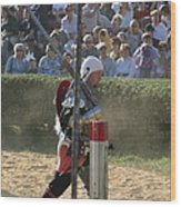 Maryland Renaissance Festival - Jousting And Sword Fighting - 1212119 Wood Print by DC Photographer