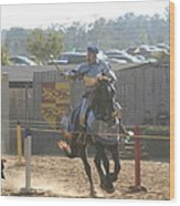 Maryland Renaissance Festival - Jousting And Sword Fighting - 1212160 Wood Print