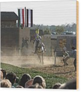 Maryland Renaissance Festival - Jousting And Sword Fighting - 1212174 Wood Print