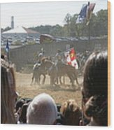 Maryland Renaissance Festival - Jousting And Sword Fighting - 1212203 Wood Print by DC Photographer