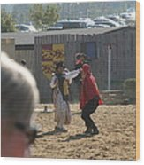 Maryland Renaissance Festival - Jousting And Sword Fighting - 1212213 Wood Print by DC Photographer