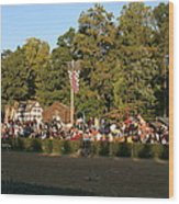Maryland Renaissance Festival - Jousting And Sword Fighting - 12124 Wood Print