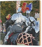 Maryland Renaissance Festival - Jousting And Sword Fighting - 121246 Wood Print by DC Photographer
