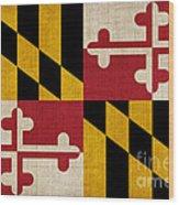 Maryland State Flag Wood Print