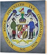 Maryland State Seal Wood Print