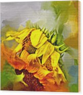 Marys Garden Wood Print