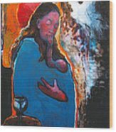 Mary's Pondering Wood Print by Daniel Bonnell