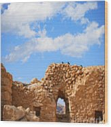Masada Fortress Wood Print