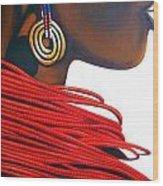 Masai Bride - Original Artwork Wood Print