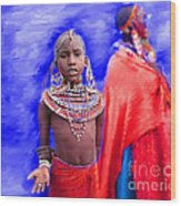 Masai Wood Print