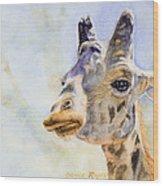 Masai Giraffe Wood Print