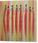 Masai Warriors Wood Print