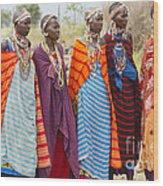 Masai Women Kenya Wood Print