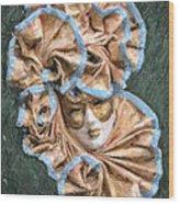 Maschera Di Carnevale Wood Print