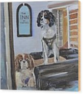 Mascots Of The Inn Wood Print by Donna Tuten