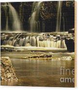 Mash Fork Falls Wood Print