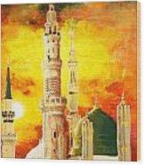 Masjid E Nabwi Wood Print