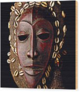 Mask From Ivory Coast Wood Print