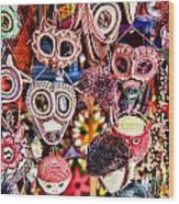 Mask Me In El Casco By Diana Sainz Wood Print
