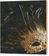 Mask Of Evening Wood Print