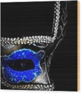 Mask Series 14 Wood Print