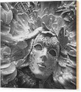 Masked Angel Wood Print