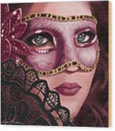 Masked II Wood Print