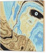 Masked- Man Abstract Wood Print