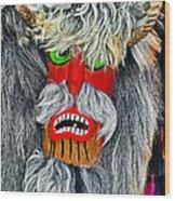Masks. Next To Bran Castle - Dracula's Castle.  Wood Print