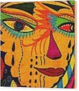 Masks We Wear - Face Wood Print