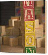 Mason - Alphabet Blocks Wood Print