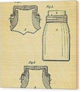 Mason Fruit Jar Patent Art 1870 Wood Print