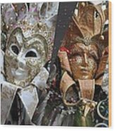 Masquerade Craziness Wood Print