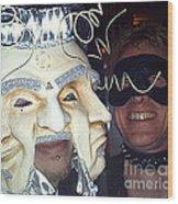 Masquerade Masked Frivolity Wood Print