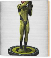 Mass Effect - Eclipse Soldier Wood Print by Frederico Borges