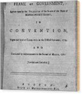 Massachusetts Constitution Wood Print
