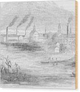 Massachusetts Lawrence Wood Print