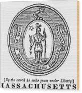 Massachusetts State Seal Wood Print
