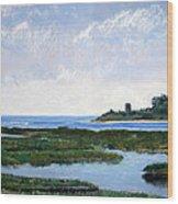 Massachussetts Marsh Morning Wood Print by Lorraine McFarland