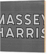 Massey Harris Wood Print
