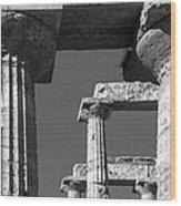 Massive Columns Of Paestum Wood Print