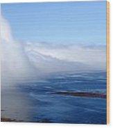Massive Fog Bank Over Ocean Wood Print