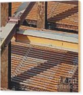 Massive Steel Girders Wood Print