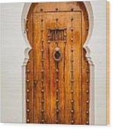 Massive Wooden Door Wood Print