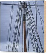 Mast And Rigging Series Number Two Wood Print