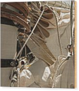 Mast Hoops Wood Print