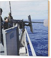 Master-at-arms Fires A .50-caliber Wood Print