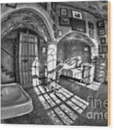 Master Bedroom At Fonthill Castlebw Wood Print