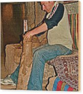 Master Potter At Work In Avanos-turkey Wood Print by Ruth Hager